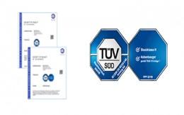Neue TÜV Zertifizierungen für Delfin Industriesauger