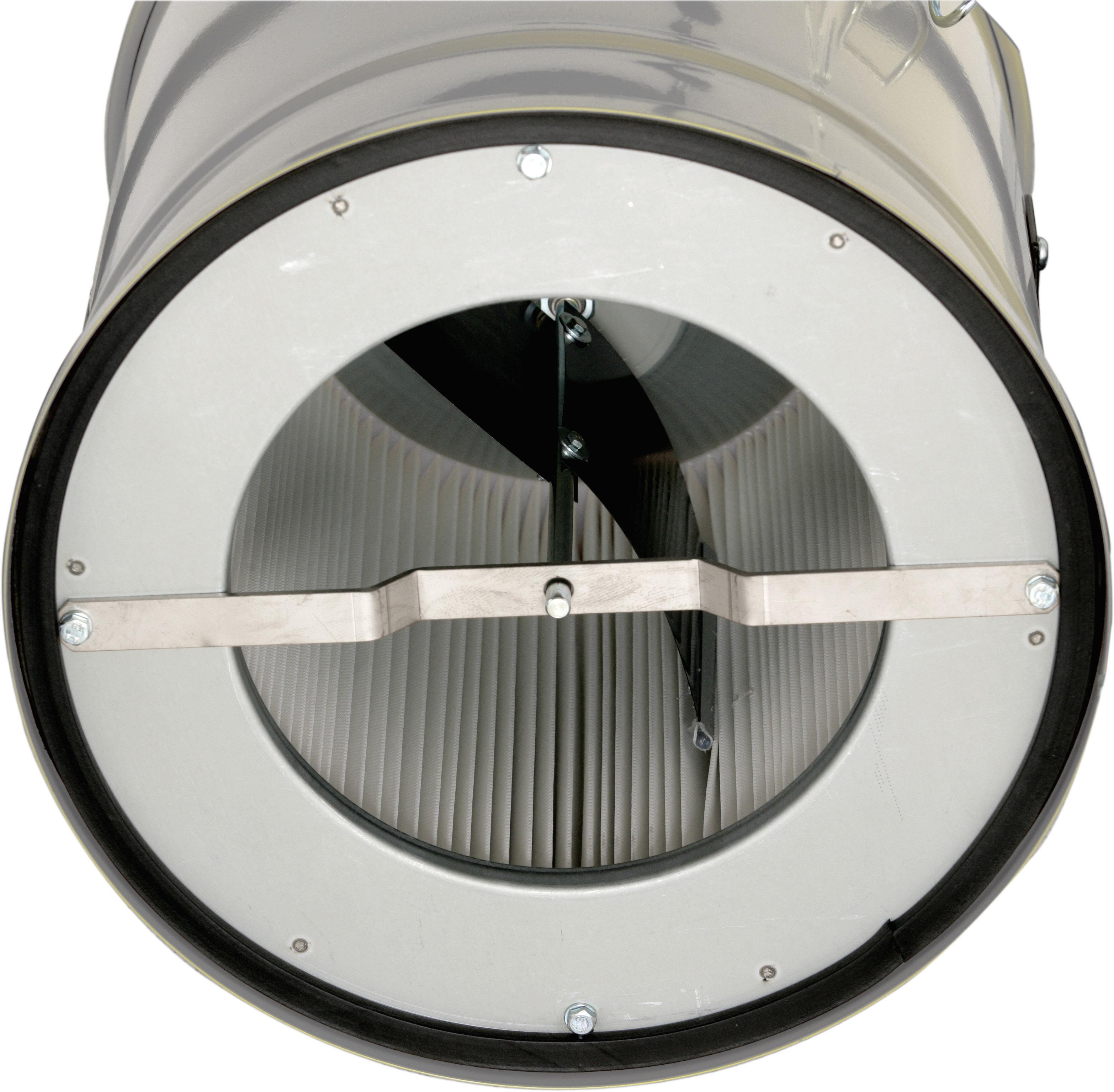 Aspiratore industriale per polveri fini ad alta filtrazione