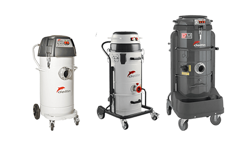 Single phase industrial vacuum cleaner for dust and liquids