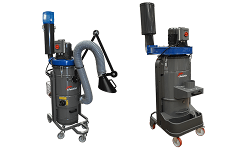 Dust extractor for fine dust or fumes
