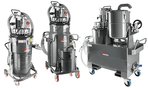 Industrial vacuum oil and chips recovery