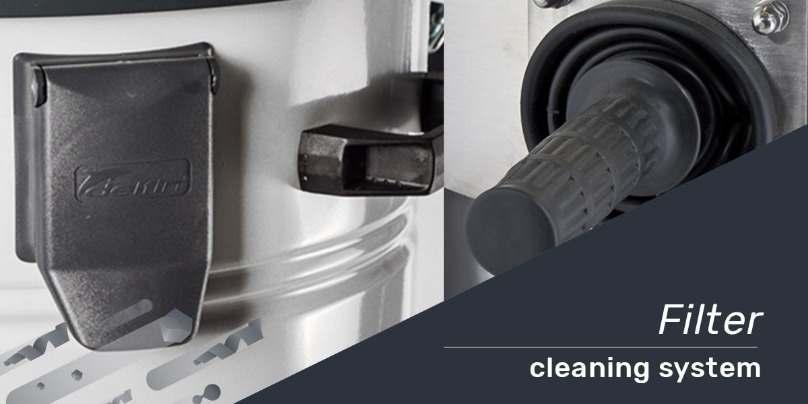 vệ sinh bộ lọc máy hút bụi công nghiệp delfin italy