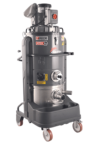 INERT RANGE INDUSTRIAL VACUUM CLEANERS FOR COMBUSTIBLE DUST EXTRACTION